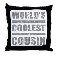 World's Coolest Cousin Throw Pillow