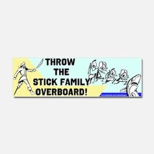 Stick Family Overboard Car Magnet 10 x 3