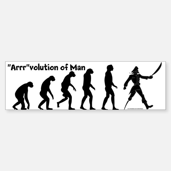 """""""Arrr""""volution of Man Bumper Bumper Bumper Sticker"""