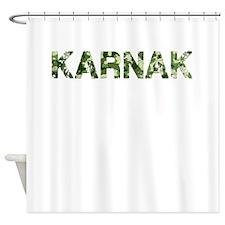 Karnak, Vintage Camo, Shower Curtain