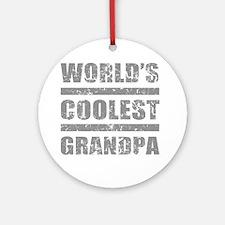 World's Coolest Grandpa Ornament (Round)