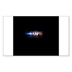 New COPS Logo Sticker (Rectangle 10 pk)