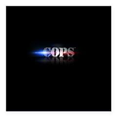 New COPS Logo Square Car Magnet 3