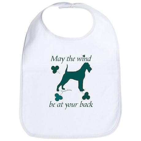 Irish Terrier and Shamrocks Bib