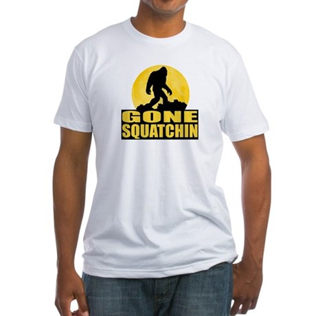 Gone Squatchin - Bark at the Moon Fitted T-Shirt