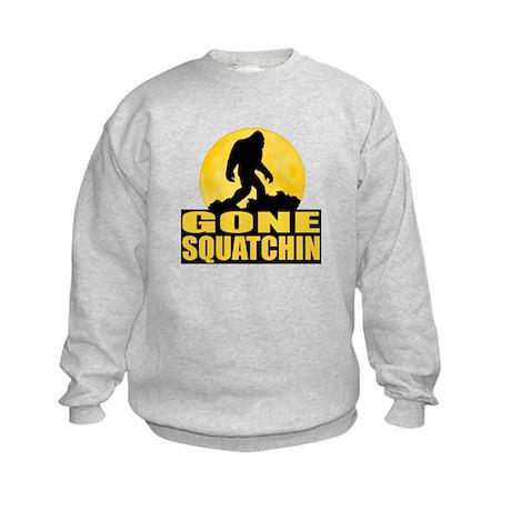 Gone Squatchin - Bark at the Moon Kids Sweatshirt