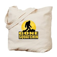Gone Squatchin - Bark at the Moon Tote Bag