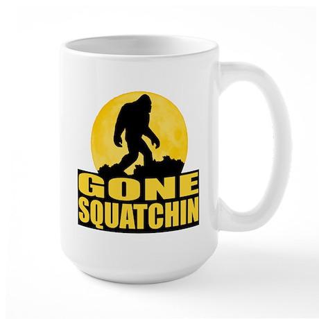 Gone Squatchin - Bark at the Moon Large Mug