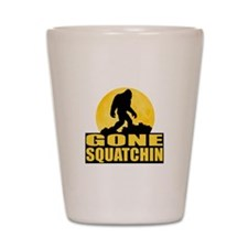 Gone Squatchin - Bark at the Moon Shot Glass