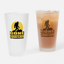 Gone Squatchin - Bark at the Moon Drinking Glass