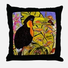 Hornbill Bird Throw Pillow