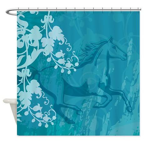 mystic garden horse shower curtain by dreamwhisper