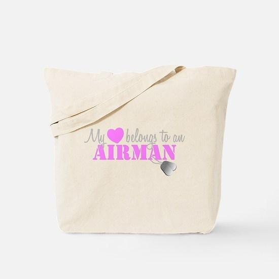 My 3 belongs to an Airman Tote Bag