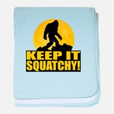 Keep It Squatchy! - Bark at the Moon baby blanket
