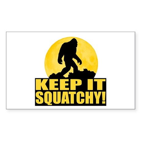 Keep It Squatchy! - Bark at the Moon Sticker (Rect