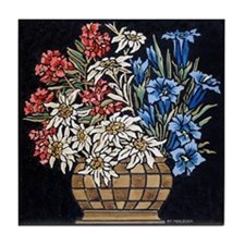 Edelweiss Bouquet Tile Coaster