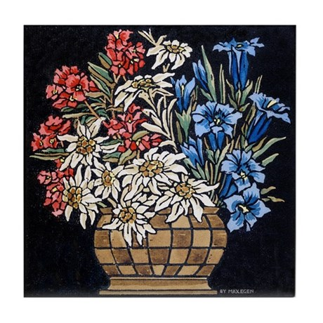 Edelweiss Bouquet Tile Coaster