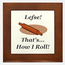 Lefse How I Roll Framed Tile