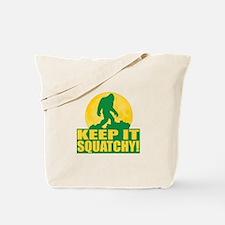 Keep It Squatchy! - Bark at the Moon Tote Bag