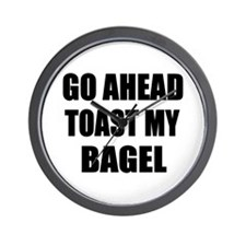 Toast My Bagel Wall Clock
