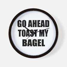Toast My Bagel Wall Clock