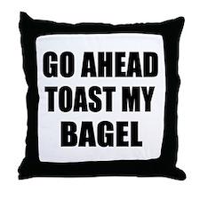Toast My Bagel Throw Pillow