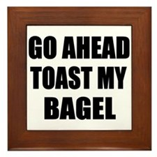 Toast My Bagel Framed Tile