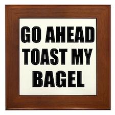 Toast My Bagel Framed Tile