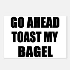 Toast My Bagel Postcards (Package of 8)
