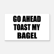 Toast My Bagel Rectangle Car Magnet