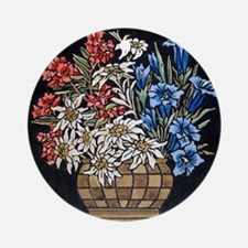 Edelweiss Bouquet Ornament (Round)