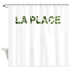 La Place, Vintage Camo, Shower Curtain