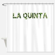 La Quinta, Vintage Camo, Shower Curtain