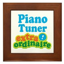 Piano Tuner Extraordinaire Framed Tile