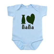 I Heart Nana Pink Hunter Green.png Infant Bodysuit