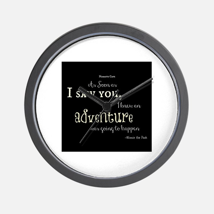 As soon as I saw you: Adventure Wall Clock