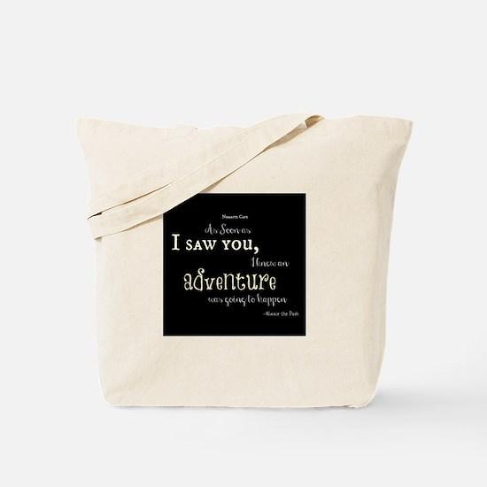 As soon as I saw you: Adventure Tote Bag