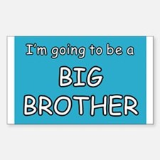 I'm going to be a BIG BROTHER Sticker (Rectangular