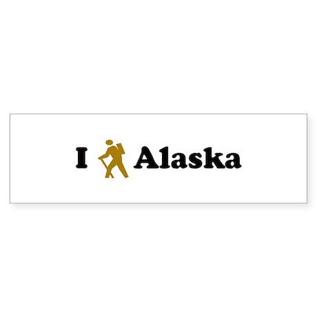 Hike Alaska Bumper Sticker