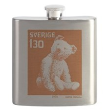 1978 Sweden Teddy Bear Postage Stamp Flask