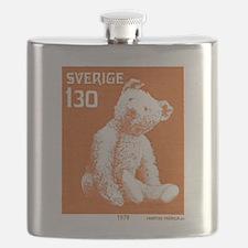 1978 Sweden Teddy Bear Postage Stamp Flask