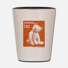 1978 Sweden Teddy Bear Postage Stamp Shot Glass