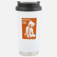 1978 Sweden Teddy Bear Postage Stamp Travel Mug