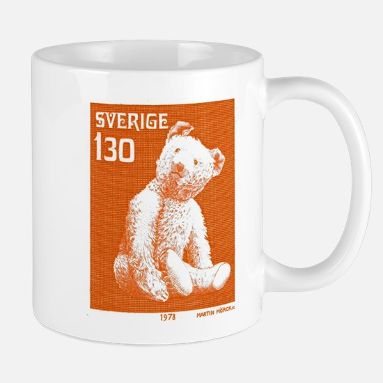 1978 Sweden Teddy Bear Postage Stamp Mug