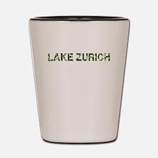 Lake Zurich, Vintage Camo, Shot Glass