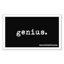 """""""Genius"""" Decal"""
