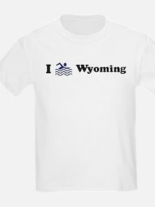 Swim Wyoming Kids T-Shirt