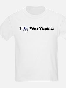Swim West Virginia Kids T-Shirt