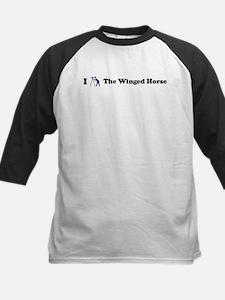 I Stargaze The Winged Horse Kids Baseball Jersey