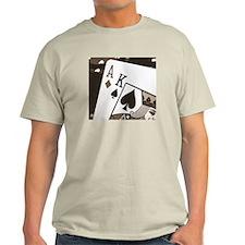 Sepia Ace King Poker Ash Grey T-Shirt